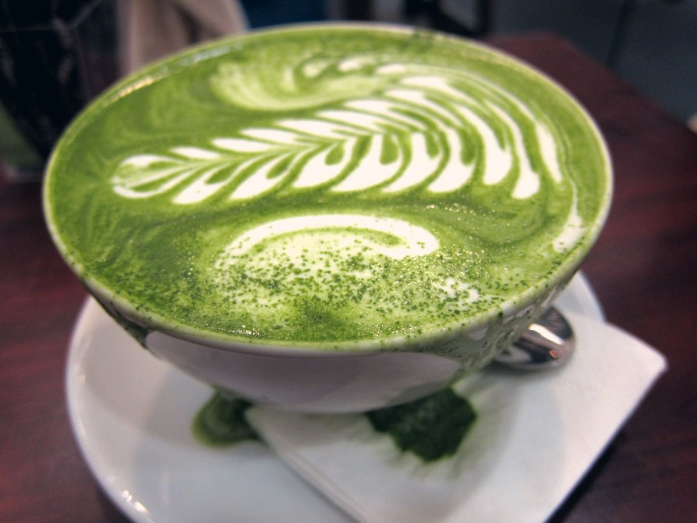 green tea latte machine